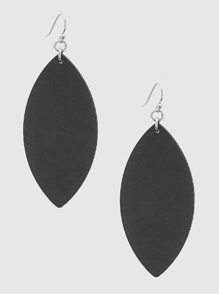 Black Marquee Leatherette Earrings *Final Sale*