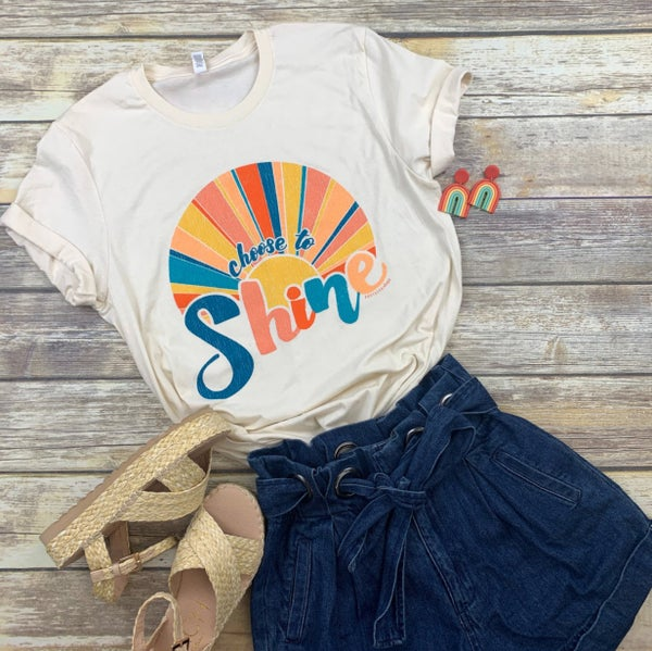 Choose To Shine Graphic Tee For Women