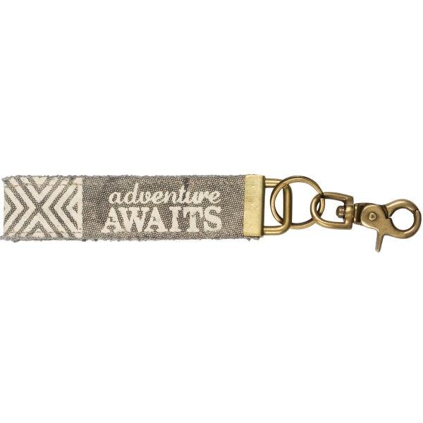 Adventure Awaits Canvas Keychain *Final Sale*