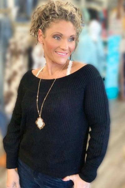 Chunky Black Lightweight Sweater For Women