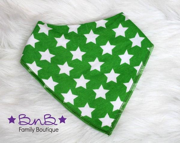 Green Star Bandana Bib
