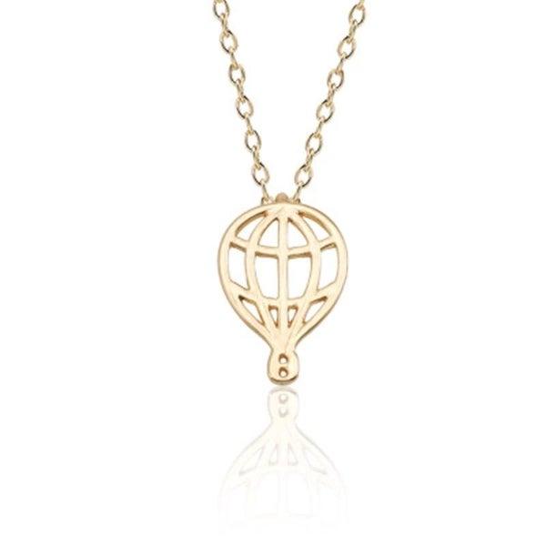 Hot Air Balloon Necklace - Gold *Final Sale*