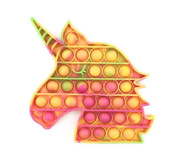 Neon Tie Dye Unicorn Fidget Popper *Final Sale*