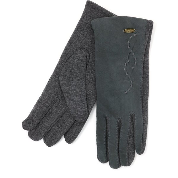 C.C. Gray Suede Touchscreen Gloves For Women