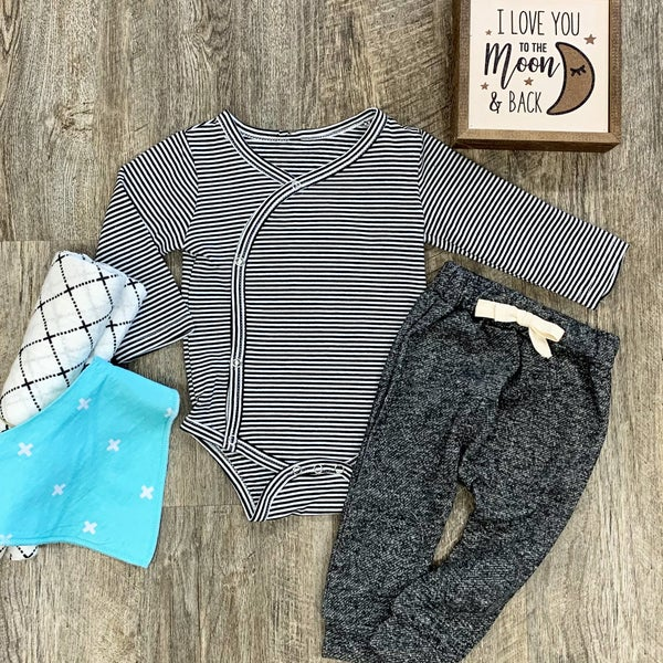 Simple Stripes 2pc Baby Outfit Set