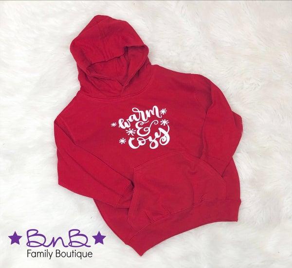 Warm & Cozy Hooded Sweatshirt - Toddler & Youth *Final Sale*