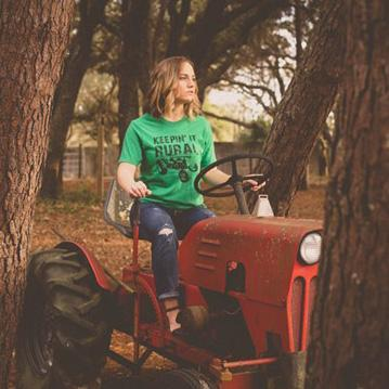 Keepin' It Rural Graphic Tee For Adults