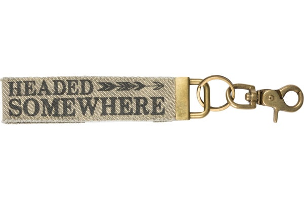 Headed Somewhere Canvas Keychain *Final Sale*