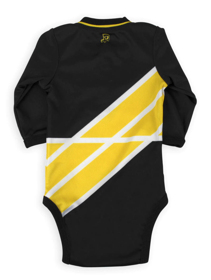 Go Iowa Game Ready Long Sleeve Onesie For Baby