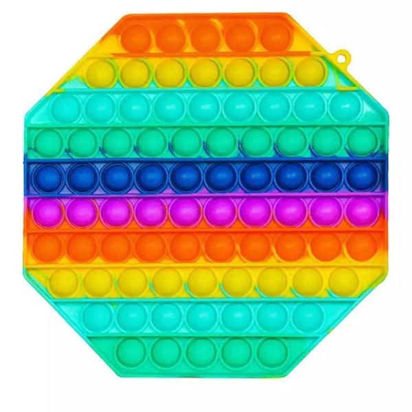 Large Rainbow Octagon Fidget Popper *Final Sale*