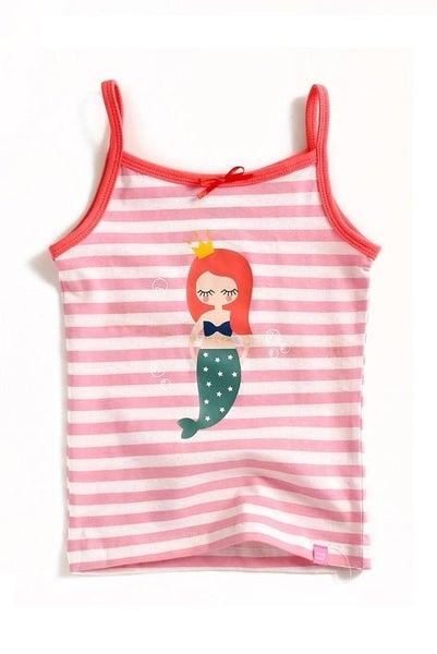 Mermaid Stripe Tank Top For Girls *Final Sale*