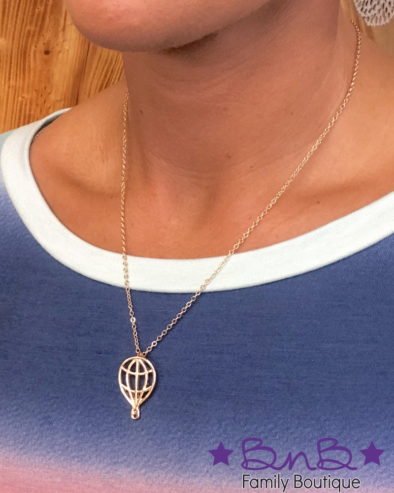 Hot Air Balloon Necklace - Gold *Final Sale*