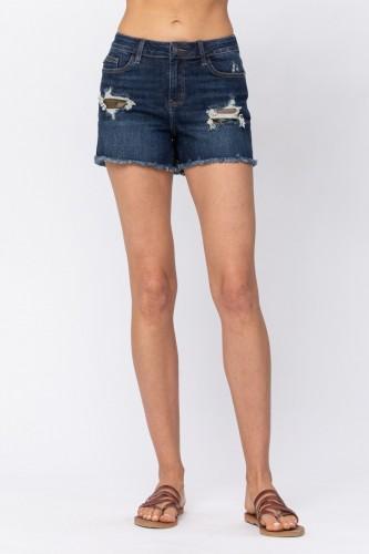 Judy Blue Camo Patch Shorts