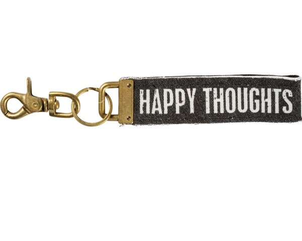 Happy Thoughts Canvas Keychain *Final Sale*