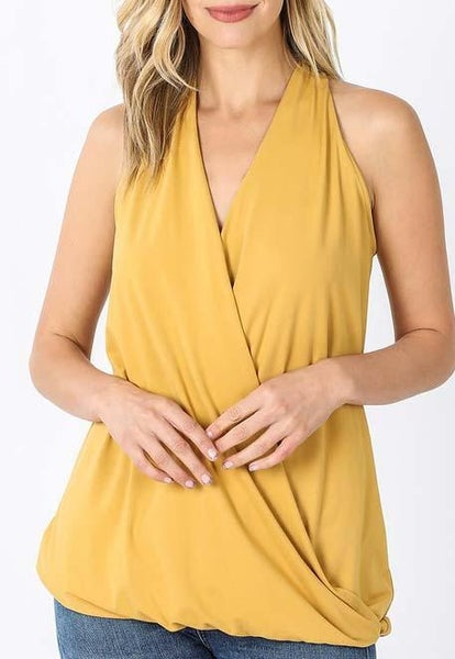 Light Mustard Halter Top For Women