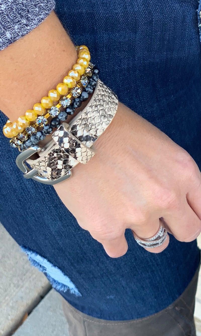 Black & Gold Bracelet Stack For Women *Final Sale*