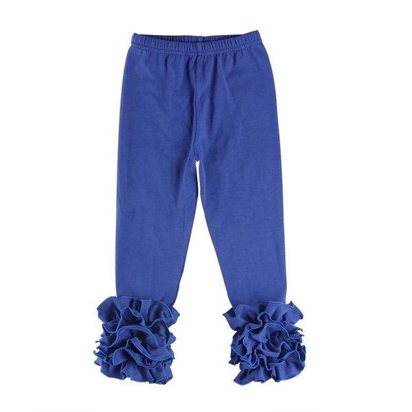Royal Blue Ruffle Legging For Girls