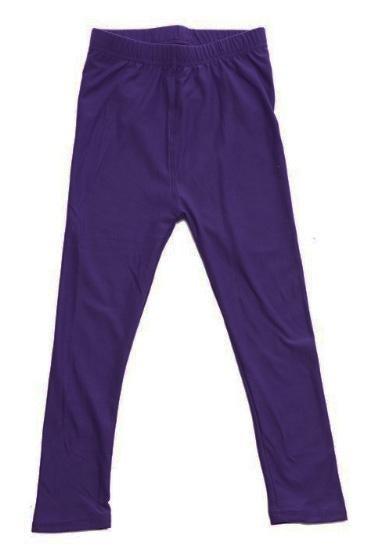 Dark Purple Legging - Girls