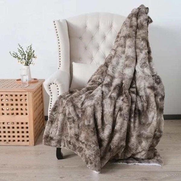 Plush Brown Minky Blanket