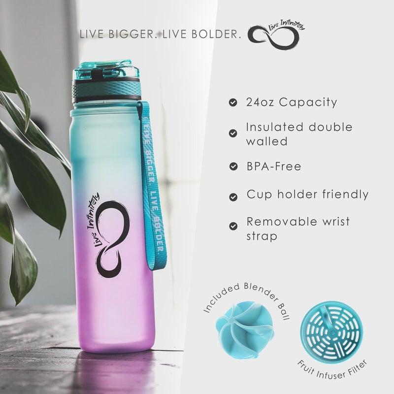 Mint & Coral Ombre 24oz Sports Bottle