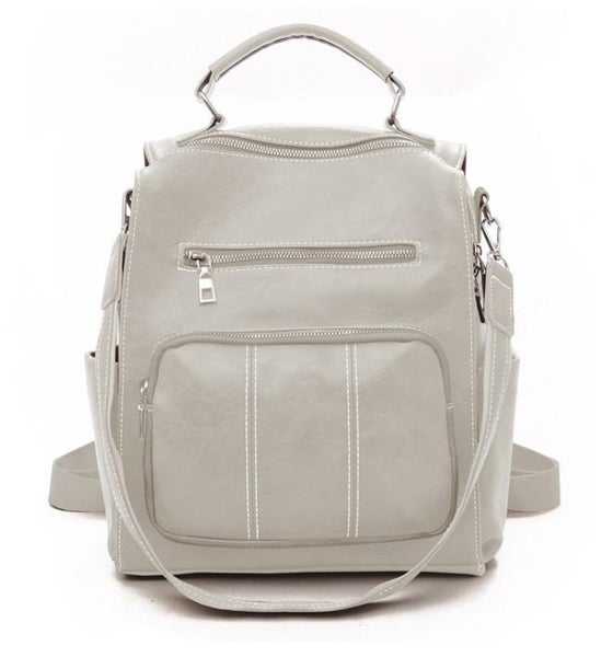 Cream Chelsea Convertible Backpack Purse For Women