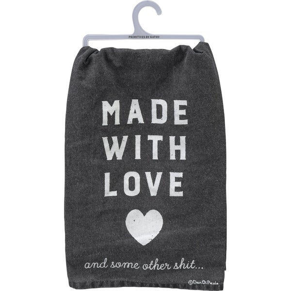 Made With Love Dish Towel *Final Sale*