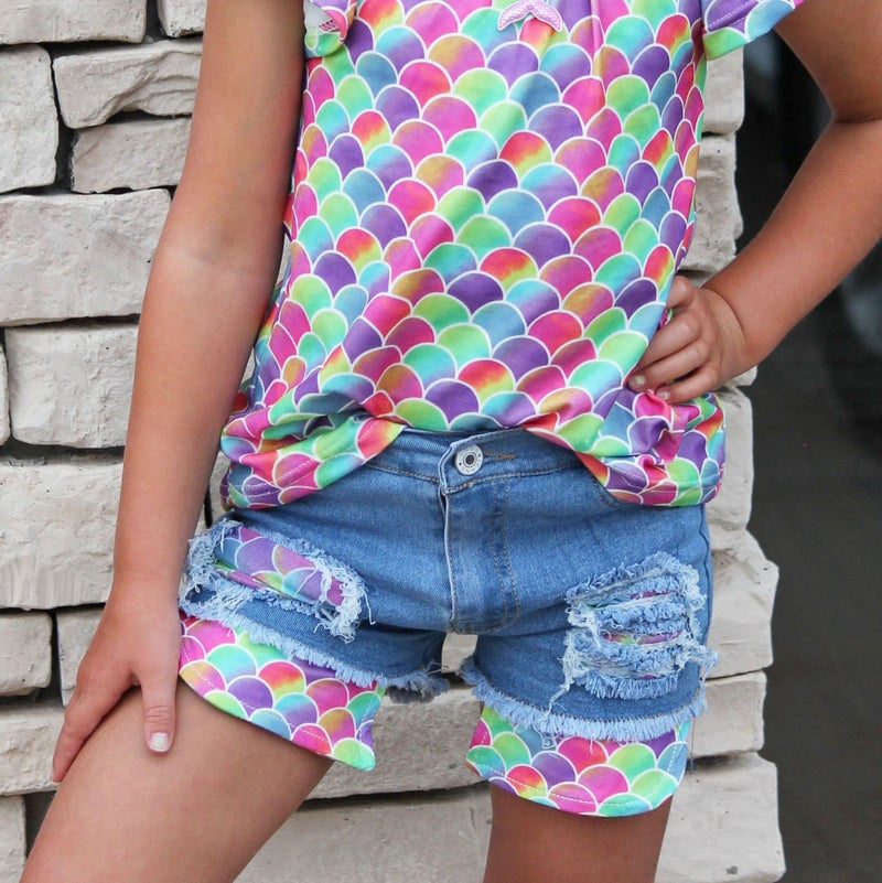 I Want To Be A Mermaid Shorts For Girls *Final Sale*