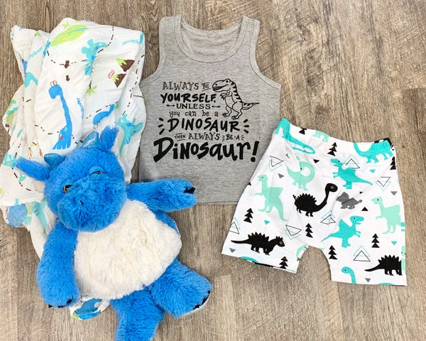 Be A Dinosaur 2pc Outfit Set For Boys