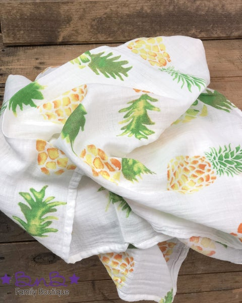 Pineapple Muslin Blanket For Baby