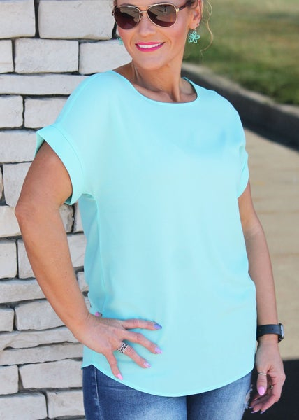 Dress It Up Mint Blouse For Women