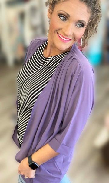 Lilac Kimono For Women
