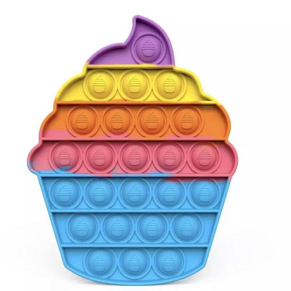 Blue Cupcake Fidget Popper *Final Sale*