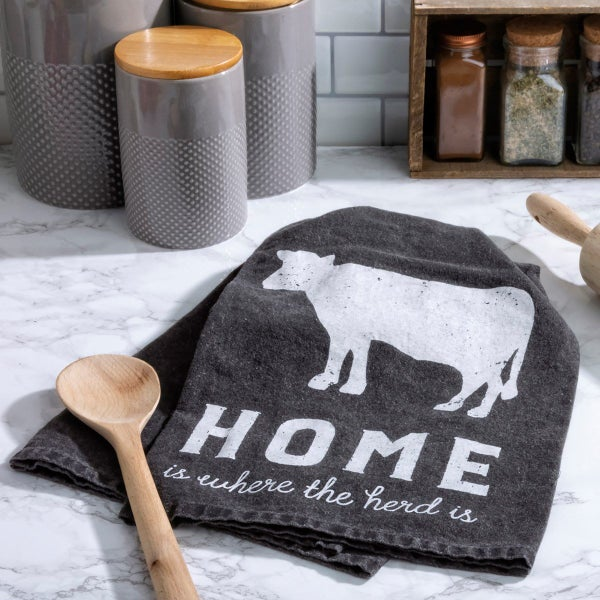 Home Is Where The Herd Is Dish Towel *Final Sale*