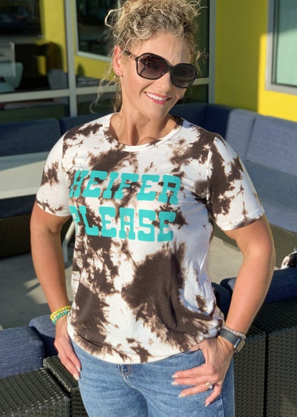 Heifer Please Graphic Tee For Women