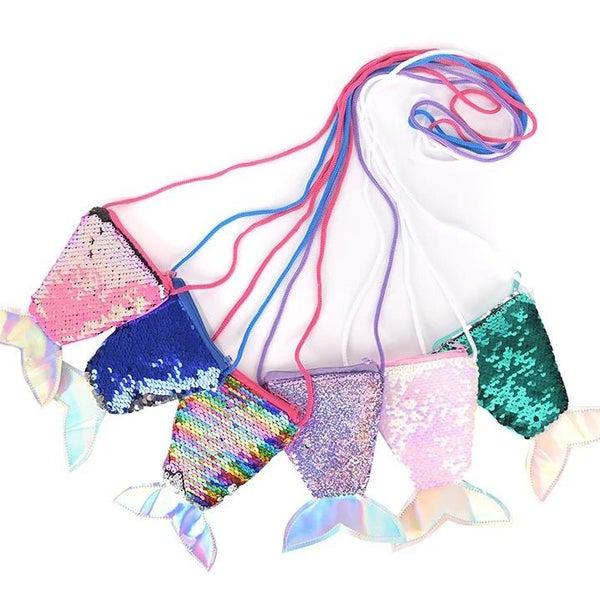 Mermaid Tail Flip Sequin Crossbody Coin Purse For Girls