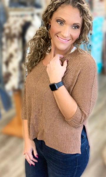 Mocha Lightweight Sweater For Women