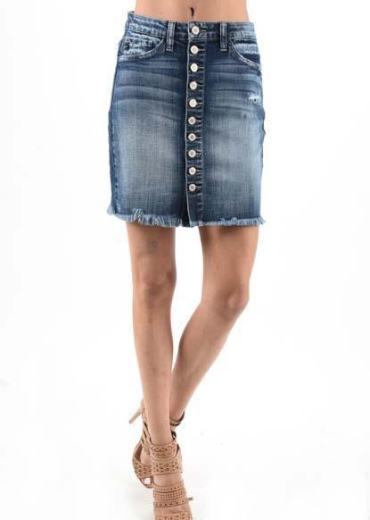 KanCan: Denim Button Skirt *Final Sale*