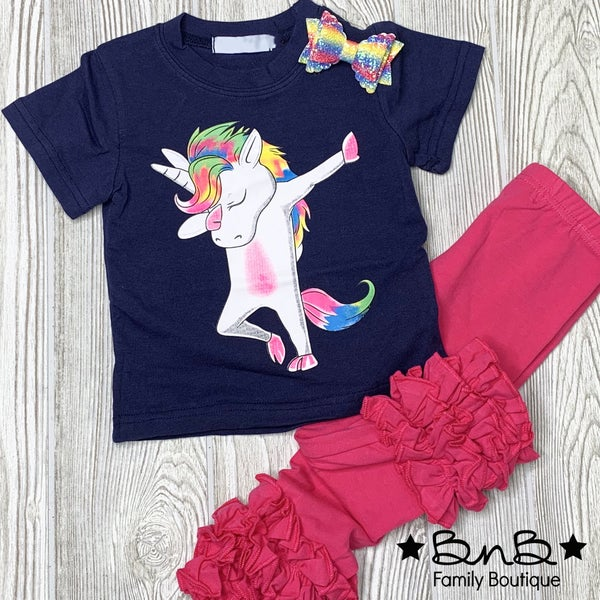 Rainbow Unicorn Graphic Tee *Final Sale*