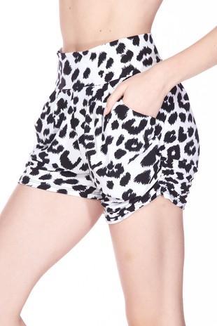 Leopard Harem Shorts For Women