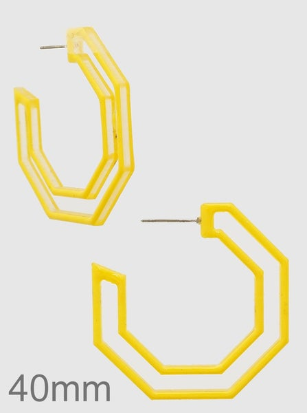 Yellow Hoop Earrings *Final Sale*