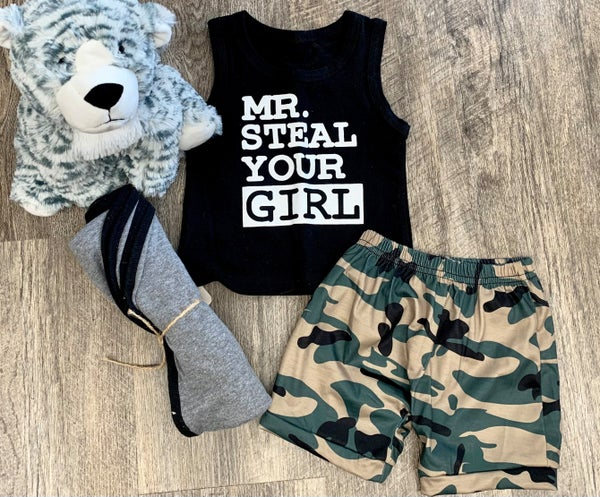 Mr. Steal Your Girl - 2pc Outfit Set For Boys