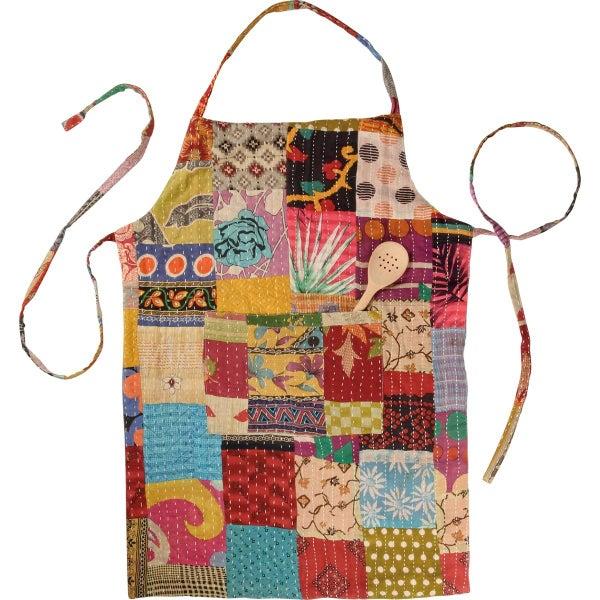 Reversible Kantha Stitched Apron