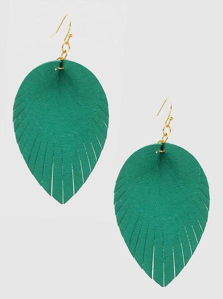 Turquoise Fringe Earrings *Final Sale*