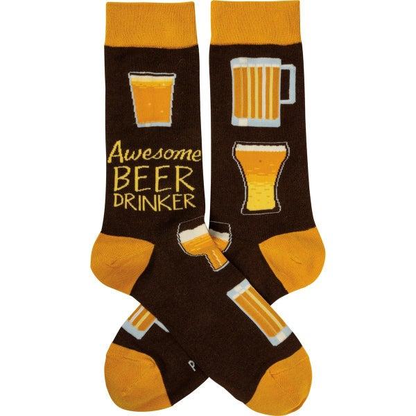 Awesome Beer Drinker Socks - Adult *Final Sale*