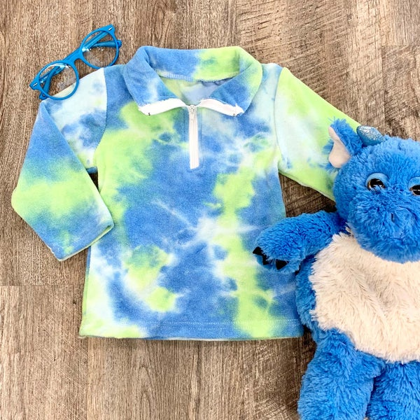 Blue Lagoon Tie Dye Pullover For Kids