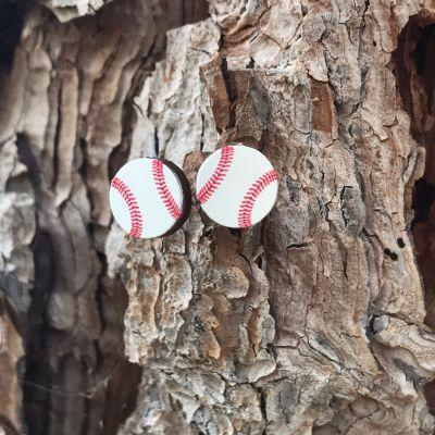 Homerun Baseball Stud Earrings *Final Sale*