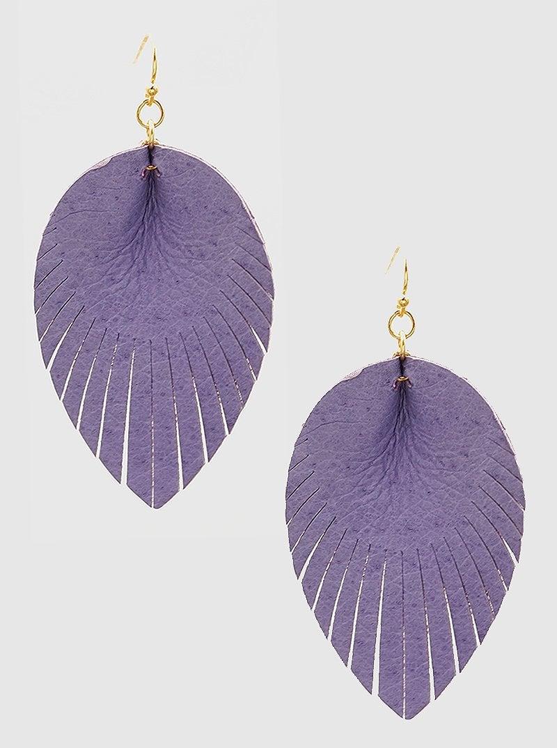 Purple Fringe Earrings *Final Sale*