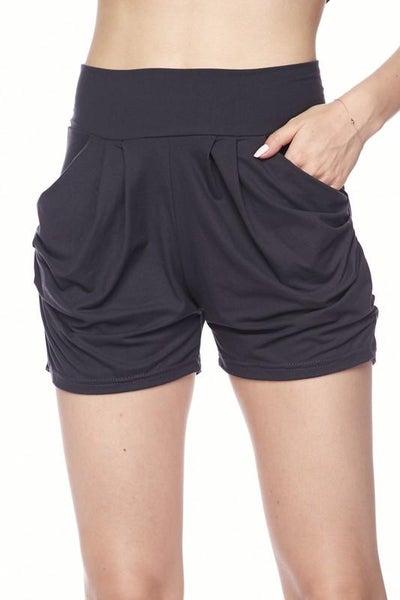 Charcoal Harem Shorts For Women