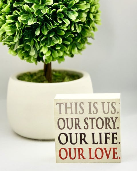 This Is Us Mini Wood Sign