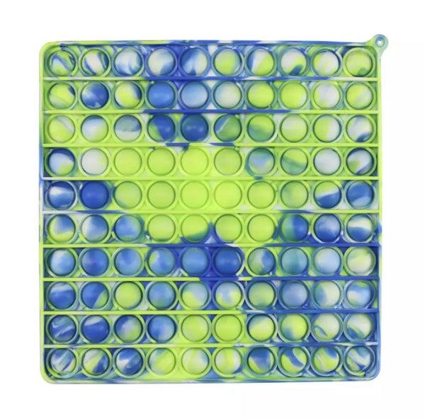 Large Blue Tie Dye Square Fidget Popper *Final Sale*